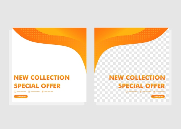 Postsjabloon voor sociale media. nieuwe collectie promotie postontwerp.