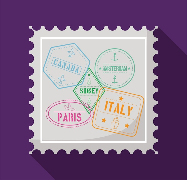 Postzegel met zegels