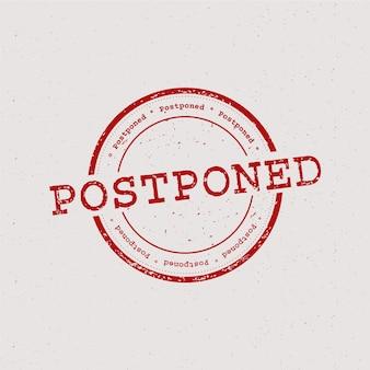 Postzegel uitgesteld