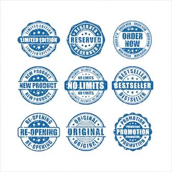 Postzegels cirkel productontwerp collectie