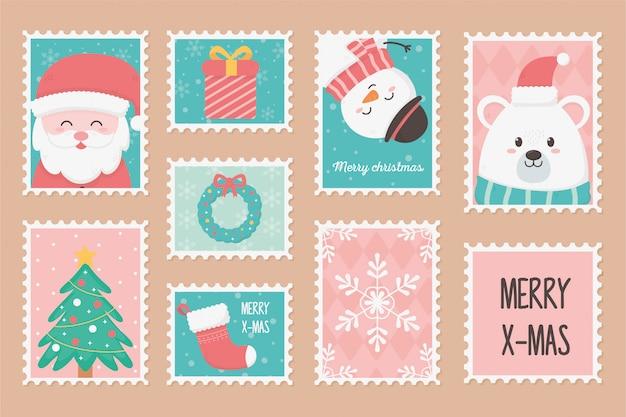 Postzegels happy christmas-collectie