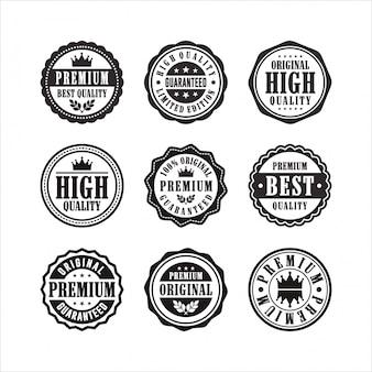 Postzegels negen premium hoogwaardige collectie