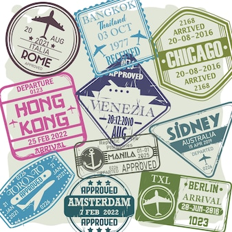 Postzegels visumlanden