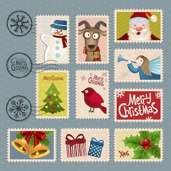 Postzegels voor kerstmis