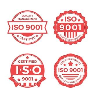 Postzegelverzameling met iso-certificering