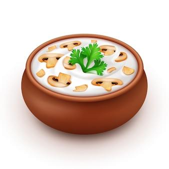 Pot mayonaise met peterselie en champignons