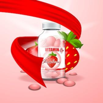 Pot met vitamines
