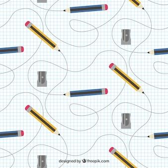 Potloden naadloos patroon