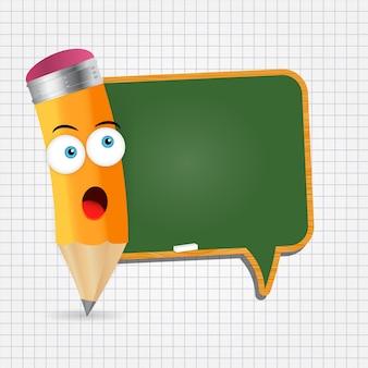 Potlood en schoolbord