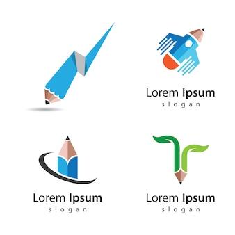 Potlood logo afbeeldingen afbeelding ontwerp