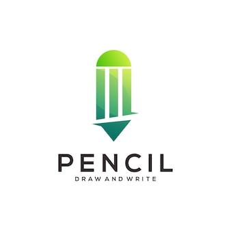 Potlood logo kleurrijk verloop