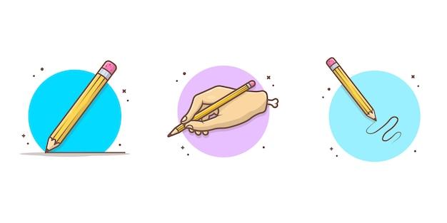 Potlood pictogram illustratie