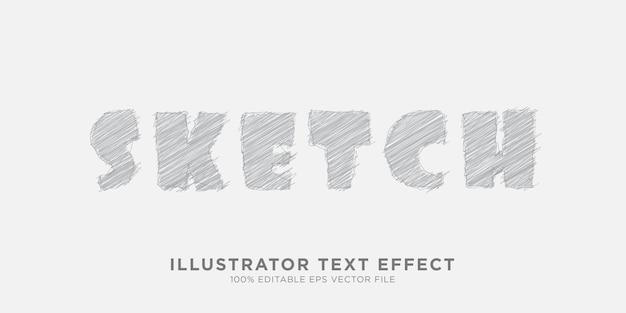 Potloodschets teksteffect ontwerpstijleffect