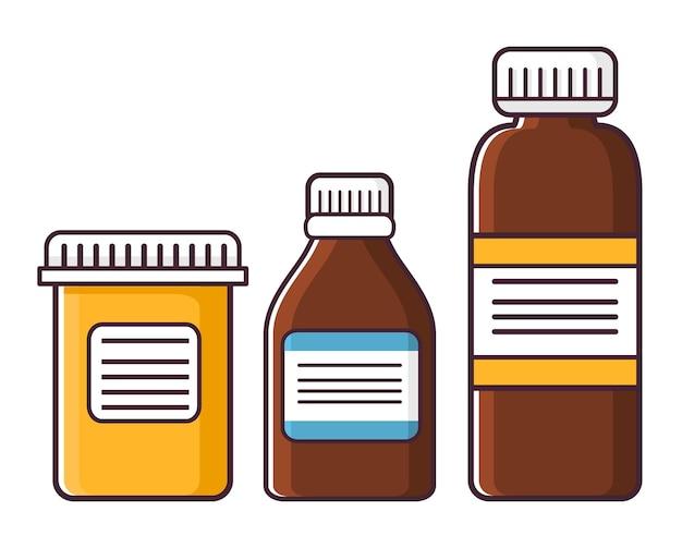 Potten met medicijnen