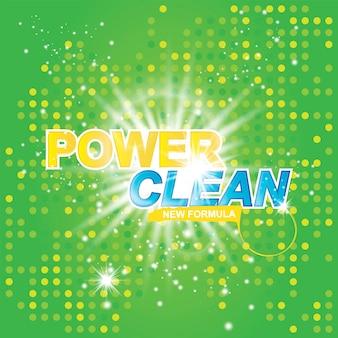 Power clean op lichteffect
