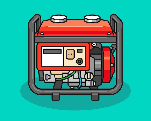 Power generator machine illustratie
