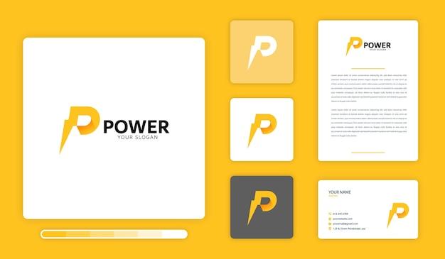 Power logo ontwerpsjabloon