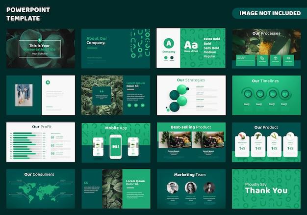 Powerpoint-presentatiesjabloon voor landbouwzaken