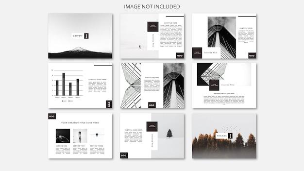 Powerpoint-sjabloon minimalistisch