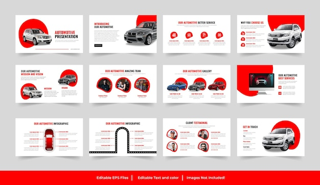 Powerpoint-sjabloon voor auto's of nieuwe auto's