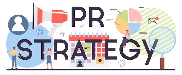 Pr-strategie typografische header
