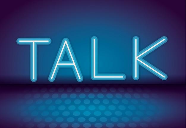 Praat met neonreclame