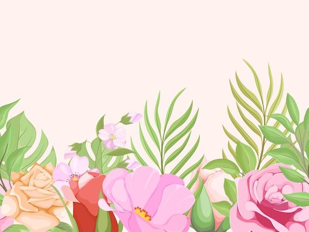 Prachtig bloemen naadloos patroon voor modeontwerp en behang