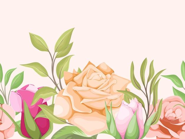 Prachtig bloemen naadloos patroonontwerp voor mode en behang