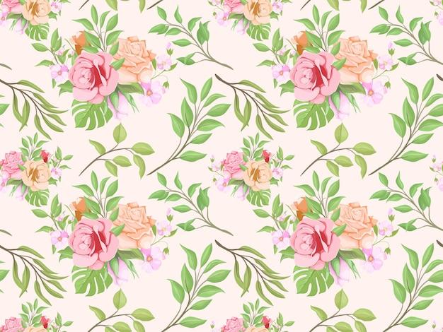 Prachtig bloemen naadloos patroonontwerp