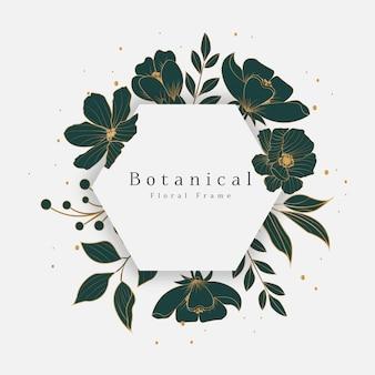 Prachtig botanisch bloemenframe