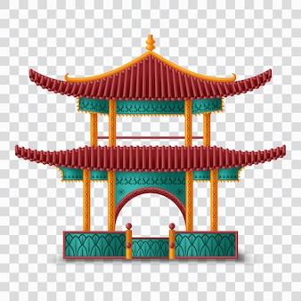 Prachtig chinees. traditioneel gebouw.
