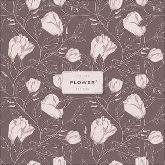 Prachtig donker vintage bloemenpatroon