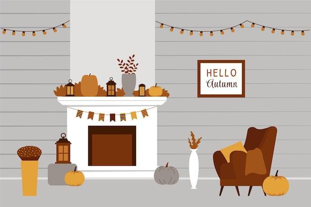 Prachtig interieur geïnspireerd op de herfst