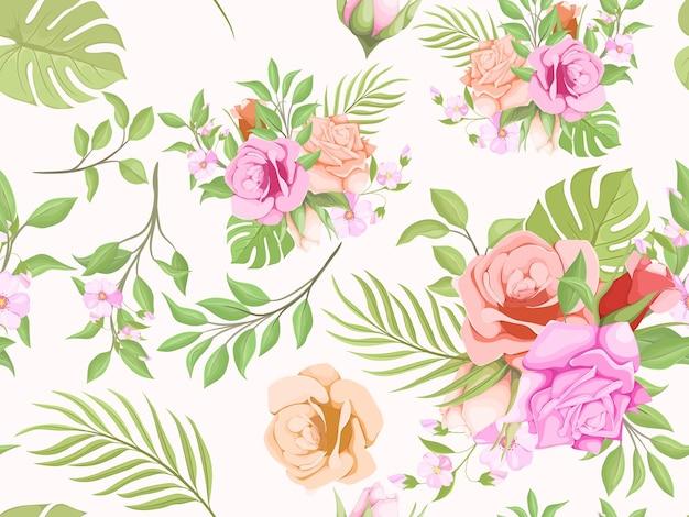 Prachtig naadloos patroon zomer bloemen