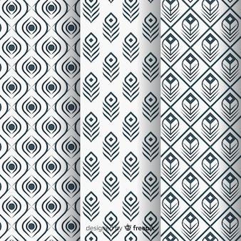 Prachtig pauwenveerpatroon met plat ontwerp