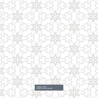 Prachtige abstracte bloempatroon in grijze kleur