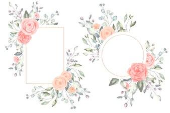 Prachtige aquarel bloemenlijsten