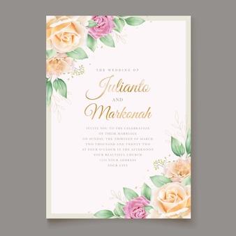 Prachtige aquarel bruiloft uitnodigingskaart