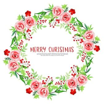 Prachtige aquarel kerstmis floral frame