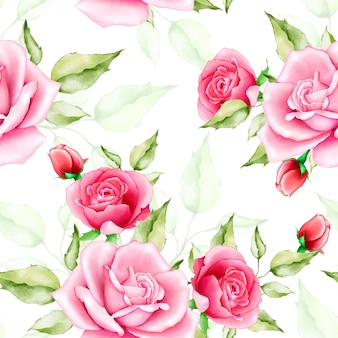 Prachtige aquarel naadloze bloemmotief