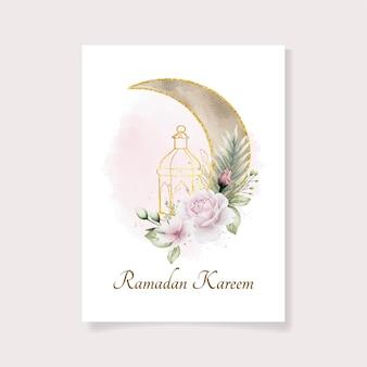 Prachtige aquarel ramadan sjabloon