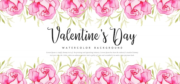 Prachtige aquarel valentine banner