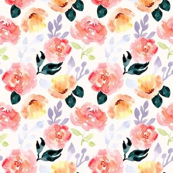 Prachtige bloem aquarel naadloze patroon