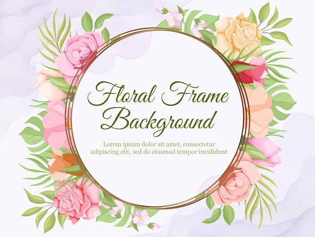 Prachtige bruiloft banner achtergrond bloemen sjabloonontwerp