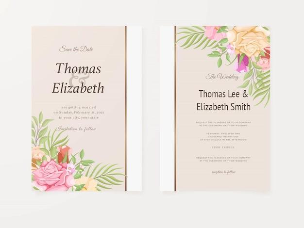 Prachtige bruiloft uitnodigingskaart zomer ontwerp