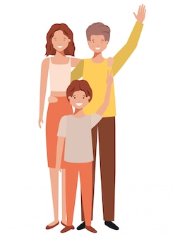 Prachtige familie avatar karakter