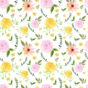 Prachtige gele roze rozen rustieke naadloze bloemmotief