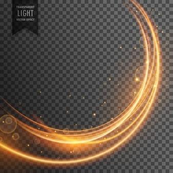 Prachtige gouden licht effect in wave stijl