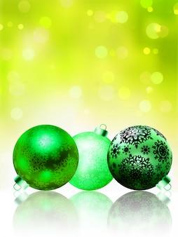 Prachtige groene gelukkig kerstkaart.