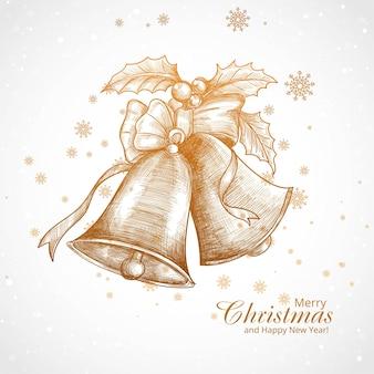 Prachtige kerst ornament elementen schetsontwerp